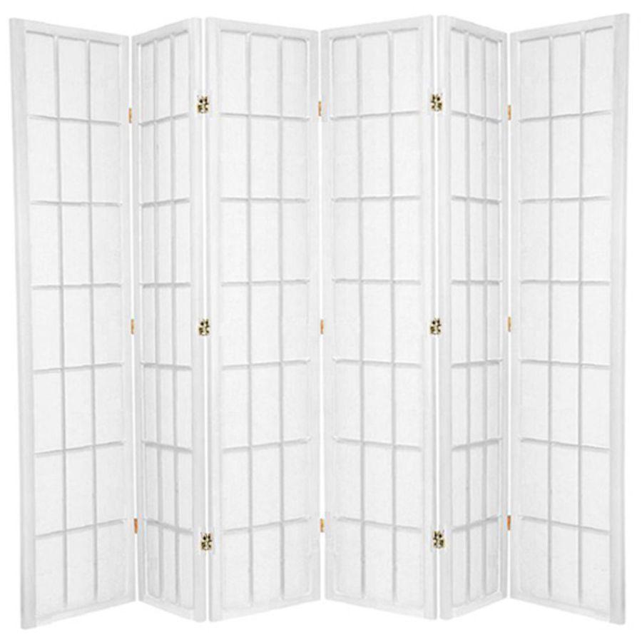 Shoji Room Divider Screen White 6 Panel | Room Dividers & Screens | Home Storage & Living