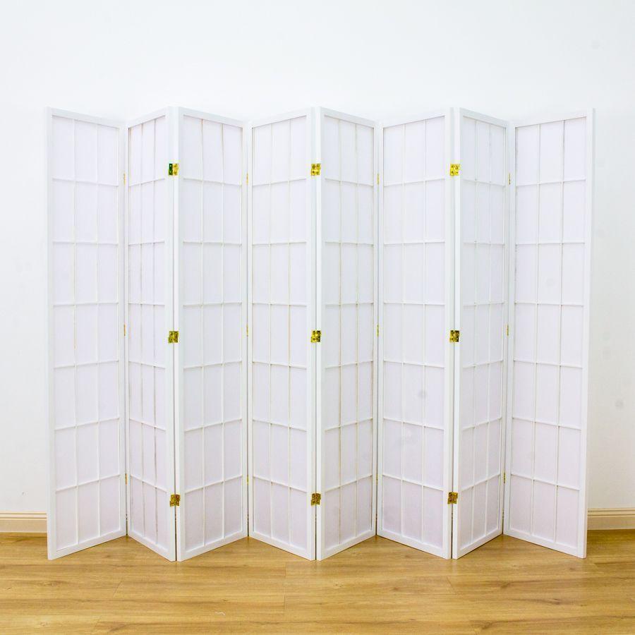 Shoji Room Divider Screen White 8 Panel | Room Dividers & Screens | Home Storage & Living