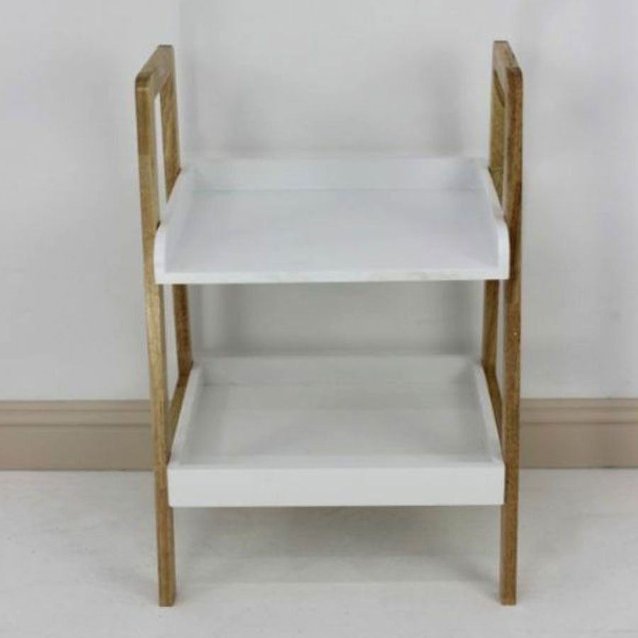 Wooden Shelving Unit 2 Tier | Furniture | Home Storage & Living