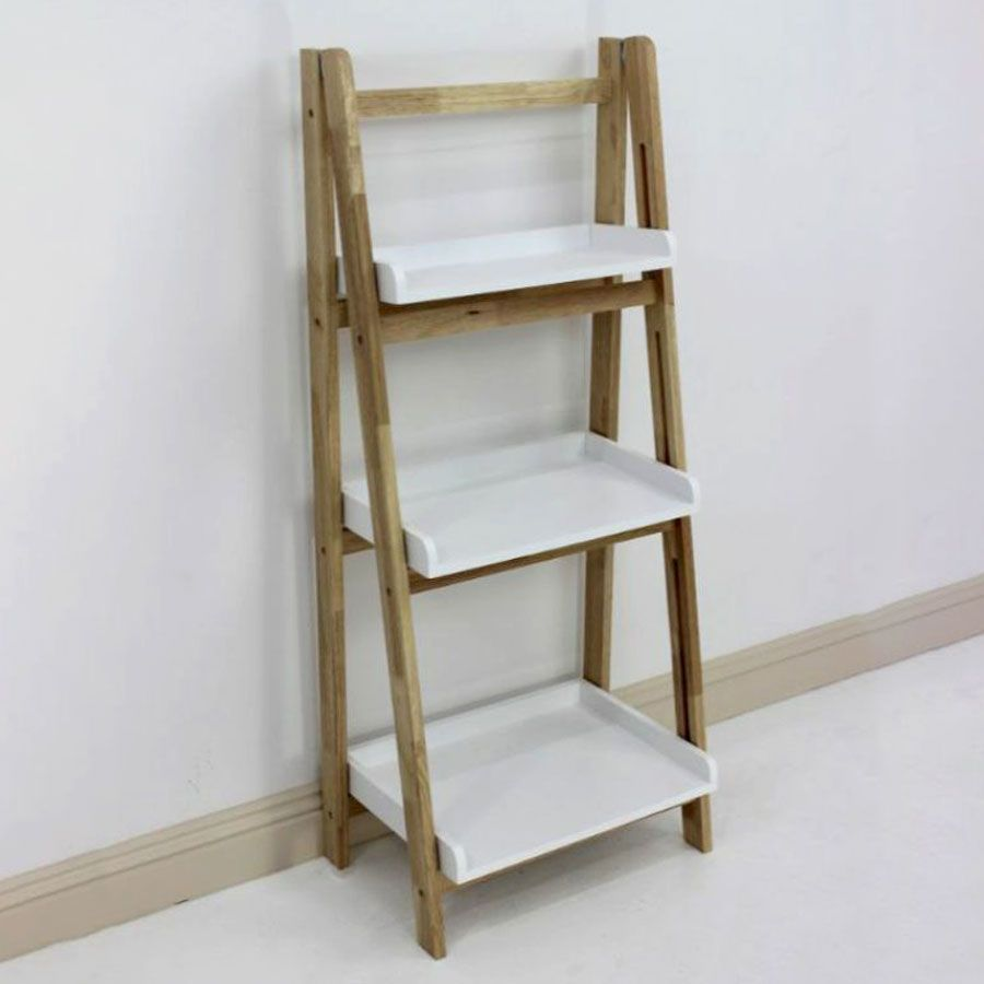 Wooden Tray Shelving Unit Fold Up 3 Tier | Furniture | Home Storage & Living