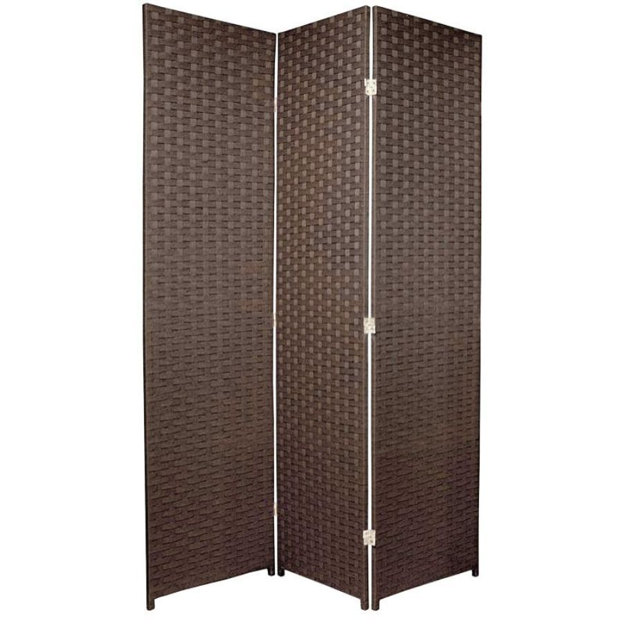 Woven Room Divider Screen Brown 3 Panel | Room Dividers & Screens | Home Storage & Living
