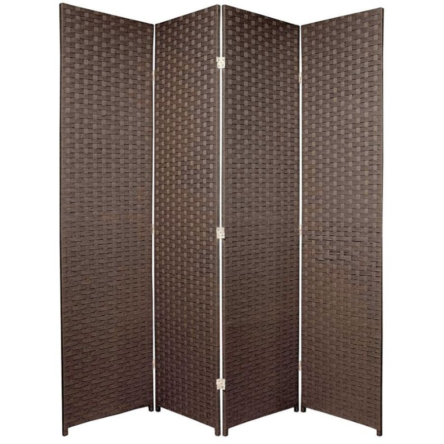 Woven Room Divider Screen Brown 4 Panel | Room Dividers & Screens | Home Storage & Living