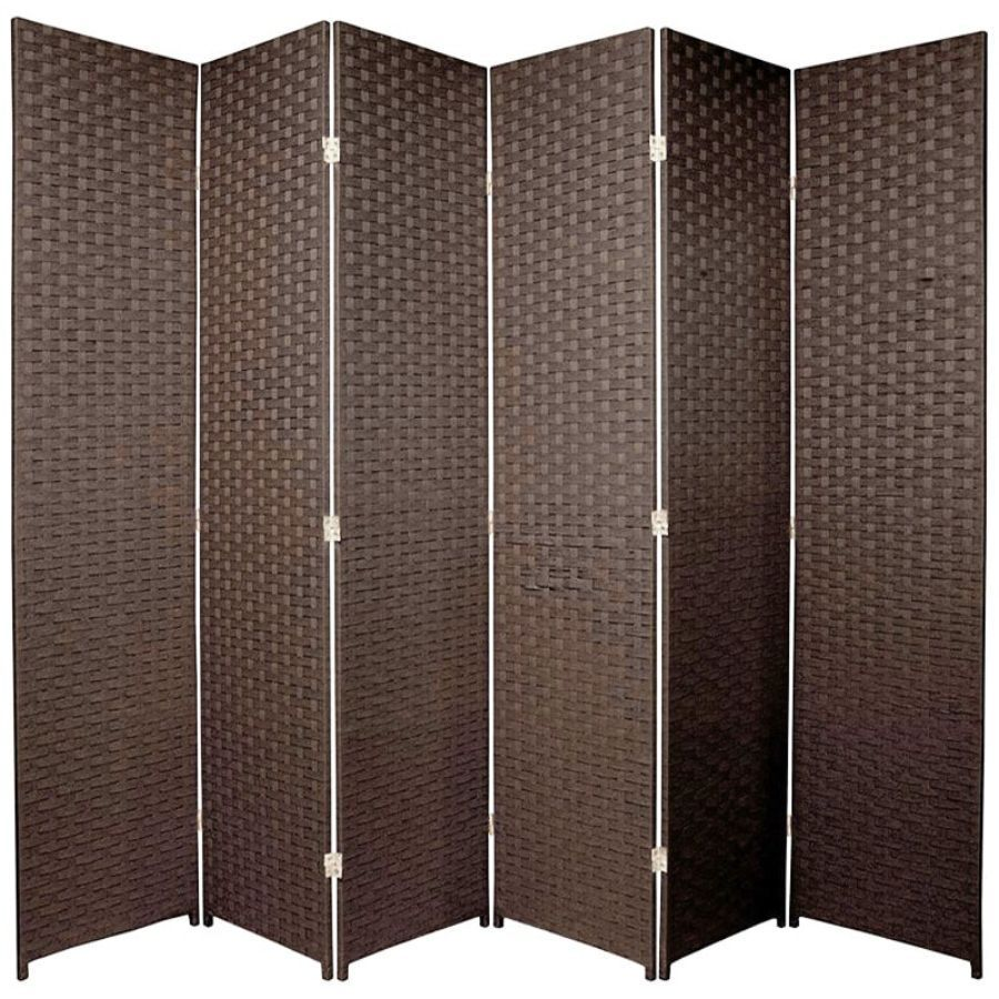 Woven Room Divider Screen Brown 6 Panel | Room Dividers & Screens | Home Storage & Living