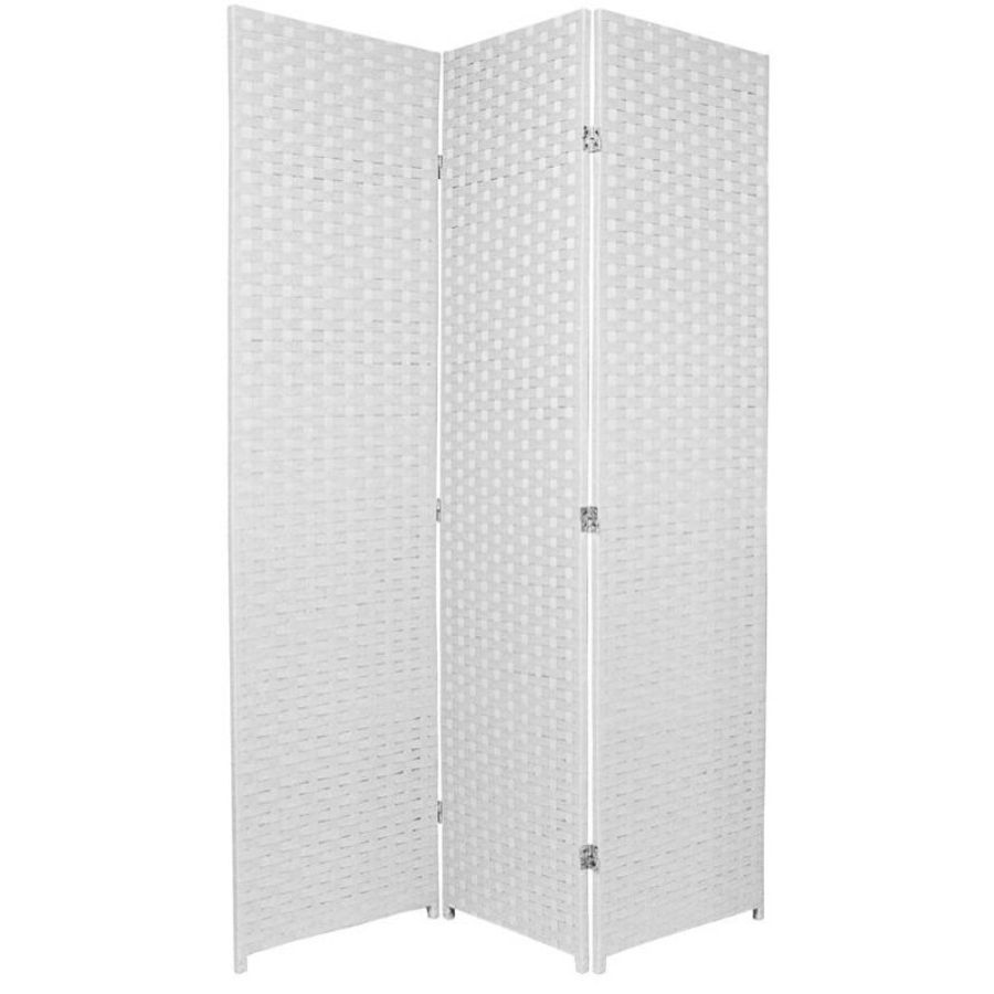 Woven Room Divider Screen White 3 Panel | Room Dividers & Screens | Home Storage & Living