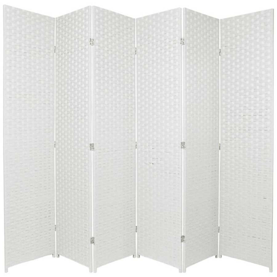 Woven Room Divider Screen White 6 Panel | Room Dividers & Screens | Home Storage & Living