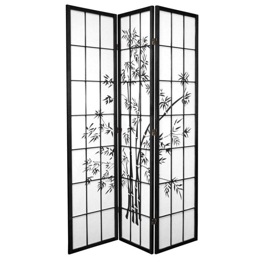 Zen Garden Room Divider Screen Black 3 Panel | Room Dividers & Screens | Home Storage & Living
