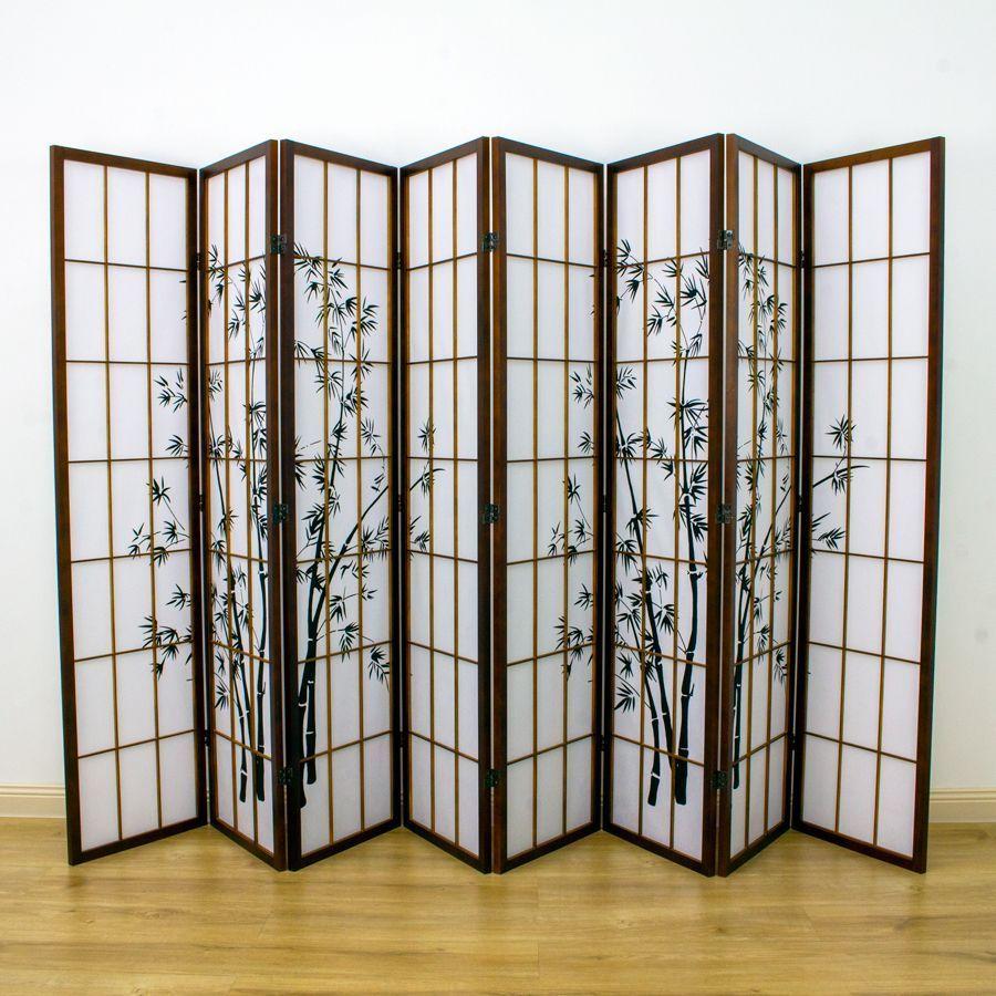 Zen Garden Room Divider Screen Brown 8 Panel | Room Dividers & Screens | Home Storage & Living
