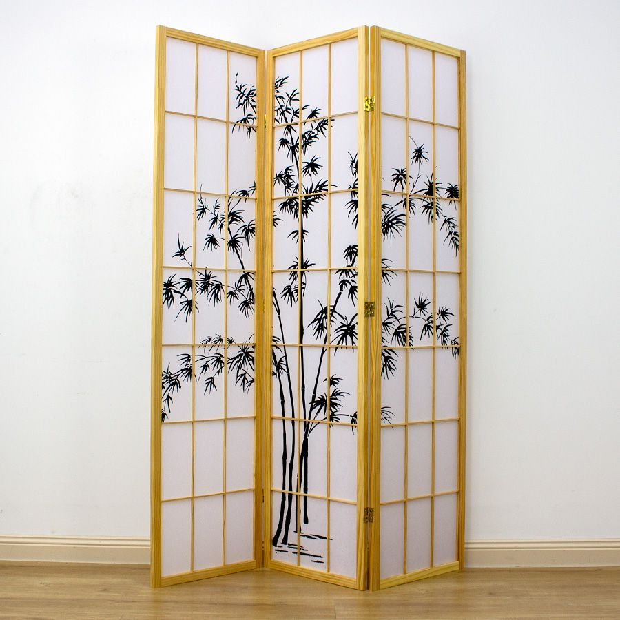 Zen Garden Room Divider Screen Natural 3 Panel | Room Dividers & Screens | Home Storage & Living