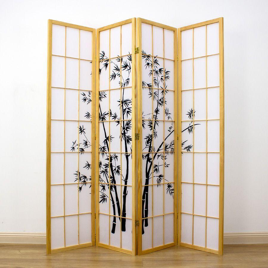 Zen Garden Room Divider Screen Natural 4 Panel | Room Dividers & Screens | Home Storage & Living