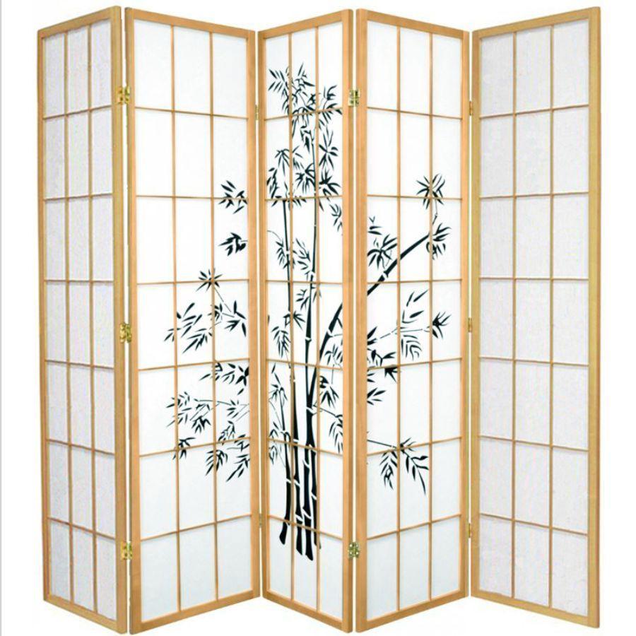Zen Garden Room Divider Screen Natural 5 Panel | Room Dividers & Screens | Home Storage & Living