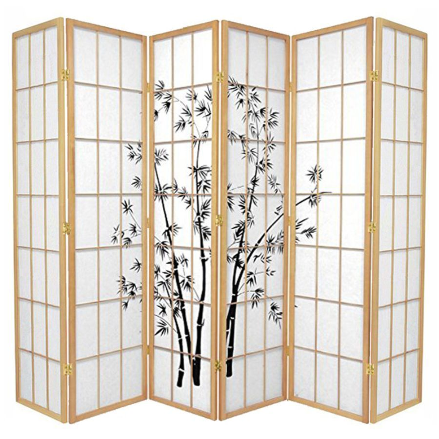 Zen Garden Room Divider Screen Natural 6 Panel | Room Dividers & Screens | Home Storage & Living
