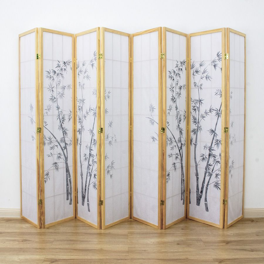 Zen Garden Room Divider Screen Natural 8 Panel | Room Dividers & Screens | Home Storage & Living