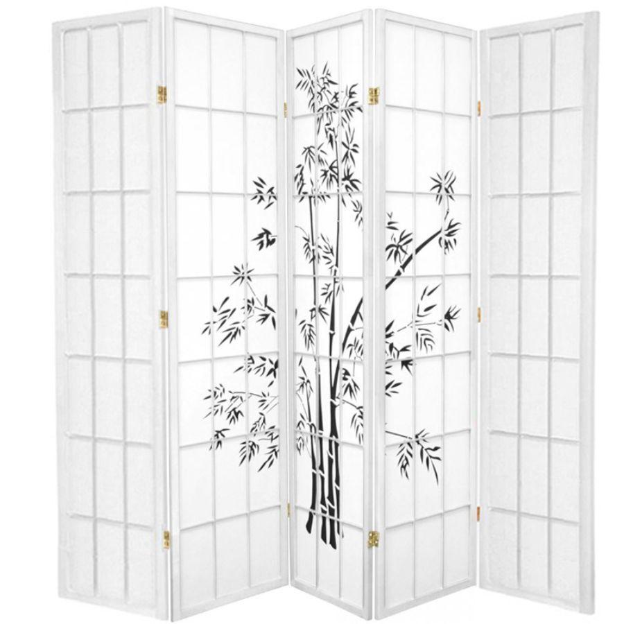 Zen Garden Room Divider Screen White 5 Panel | Room Dividers & Screens | Home Storage & Living