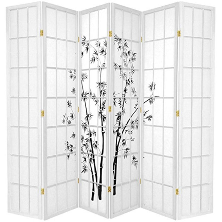 Zen Garden Room Divider Screen White 6 Panel | Room Dividers & Screens | Home Storage & Living