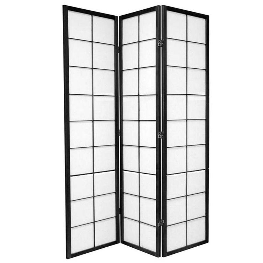 Zen Room Divider Screen Black 3 Panel | Room Dividers & Screens | Home Storage & Living