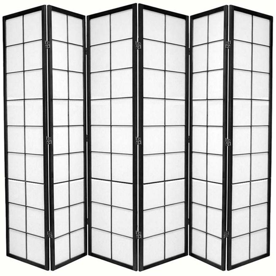Zen Room Divider Screen Black 6 Panel | Room Dividers & Screens | Home Storage & Living