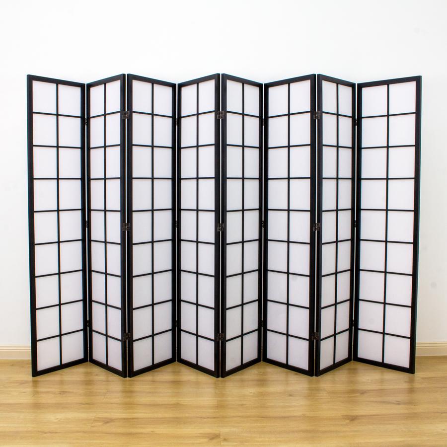 Zen Room Divider Screen Black 8 Panel | Room Dividers & Screens | Home Storage & Living