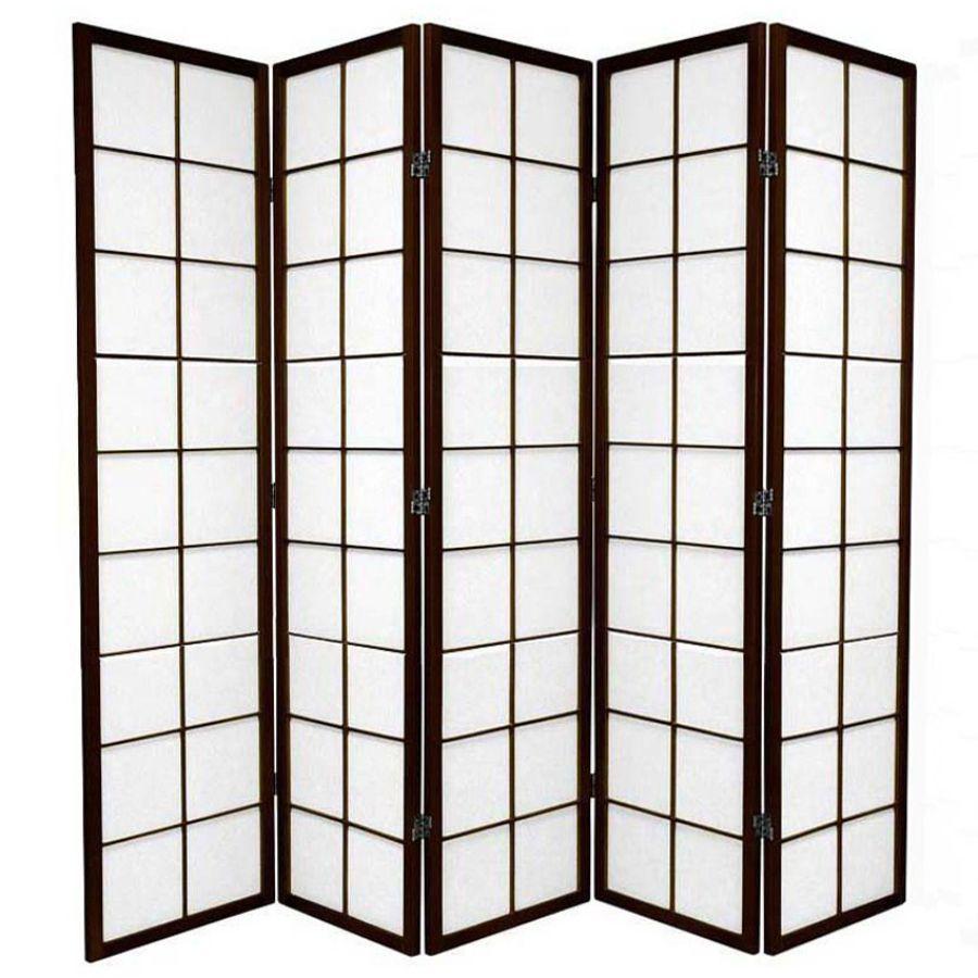 Zen Room Divider Screen Brown 5 Panel   Room Dividers & Screens   Home Storage & Living