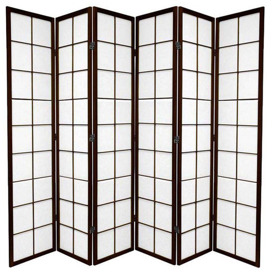 Zen Room Divider Screen Brown 6 Panel | Room Dividers & Screens | Home Storage & Living