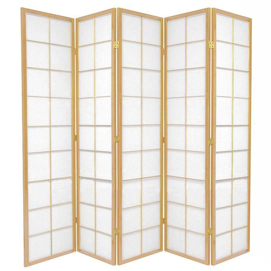 Zen Room Divider Screen Natural 5 Panel | Room Dividers & Screens | Home Storage & Living