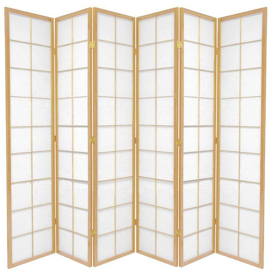 Zen Room Divider Screen Natural 6 Panel | Room Dividers & Screens | Home Storage & Living
