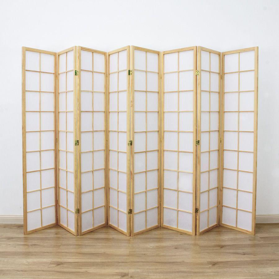 Zen Room Divider Screen Natural 8 Panel | Room Dividers & Screens | Home Storage & Living