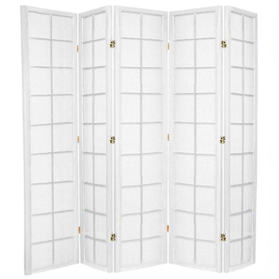 Zen Room Divider Screen White 5 Panel | Room Dividers & Screens | Home Storage & Living