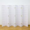 Zen Room Divider Screen White 8 Panel | Room Dividers & Screens | Home Storage & Living