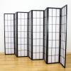 Shoji Room Divider Screen Black 8 Panel   Room Dividers & Screens   Home Storage & Living