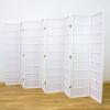 Zen Room Divider Screen White 8 Panel | Room Dividers & Screens | Home Storage & Living
